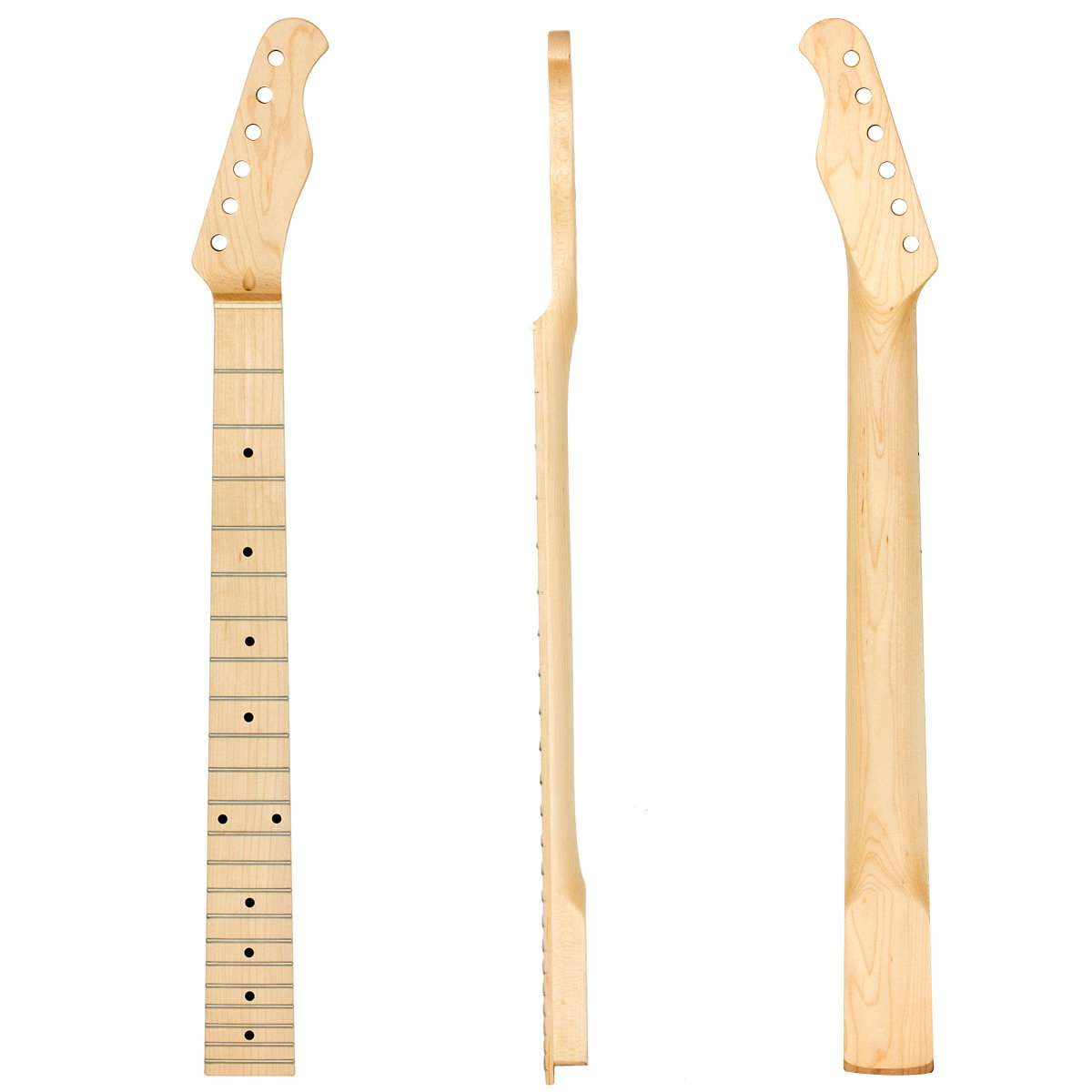 Electric Guitar Neck Clear Satin Maple Wood for Similar Guitar Parts Replacement 22 Fret Guitar Parts Acceessories Ltd 4334371737