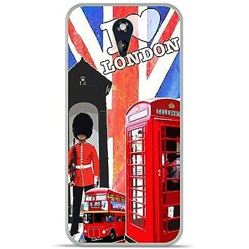 Onozo Carcasa TPU Gel Suave HTC Desire 610 Design Londres-4 ...