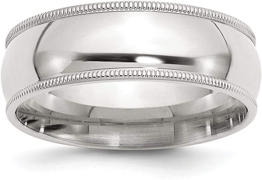 925 Ranking TOP6 Cheap Sterling Silver Millgrain Comfort Gift Fit Band Ring Jewelry