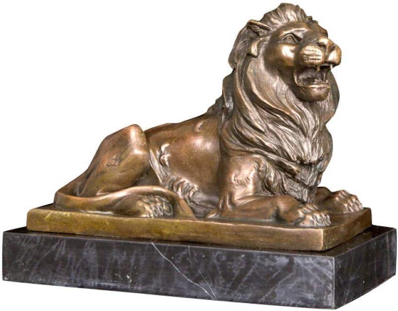 LOSAYM Escultura Decoración Estatuas Figuritas Decoración De Interiores Artesanías De Metal Rugiendo Estatua De León Escultura