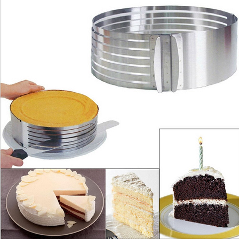 Adjustable 6''-12'' Mousse Slicing Cake Cutter Mousse Mould Slicing Cake Home DIY Cake Layer Slicing Tool by BYECHOW