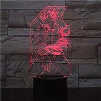 Fsewfs Luz nocturna Boku No Hero Academia Todoroki Shoto Figura Usb 3D Led Luz De Noche Niños Niño Niños Bebé Regalos Lámpara De Mesa Anime Japonés Mesita De Noche