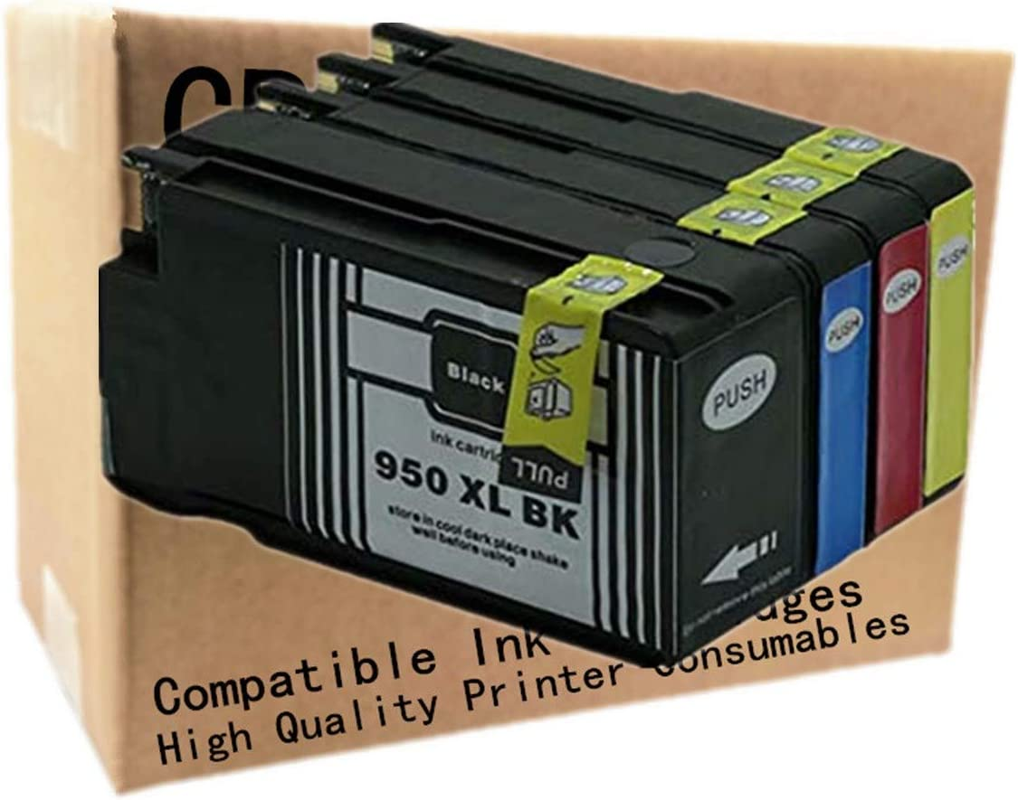 No-name Compatible Ink Cartridge Replacement for HP 950 951 XL HP950 HP951 CN045AE CN046AE CN048AE Officejet Pro 8600 Plus 8610 8615 8625 8630 8640 (1 Black 1 Cyan 1 Magenta 1 Yellow, 4 Pack)