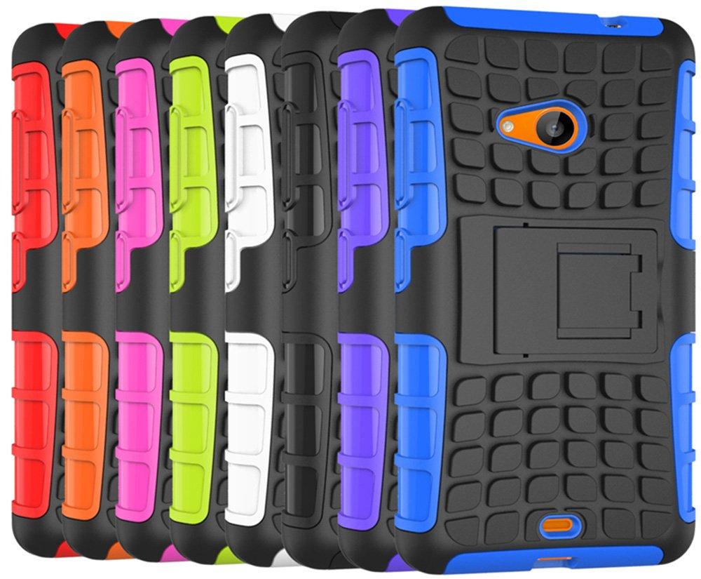 cfc4d70cae8 Microsoft Nokia Lumia 535 Funda nnopbeclik Hybrid 2 en 1 TPU + PC Carcasa  Cover Case Silicona Armadura Armor Dual Layer patrón funda Back Cover giro  de 360 ...