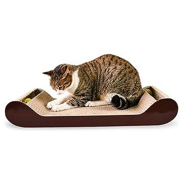 Sofá con Forma De Tabla De Arañazos De Gato Muebles para Gatos Papel Corrugado Suministros para Mascotas Gato Juguete De Garra De Molienda: Amazon.es: Hogar