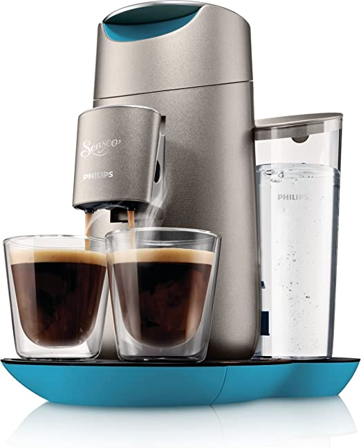 Philips Senseo Twist - Cafetera con pantalla táctil, color azul ...