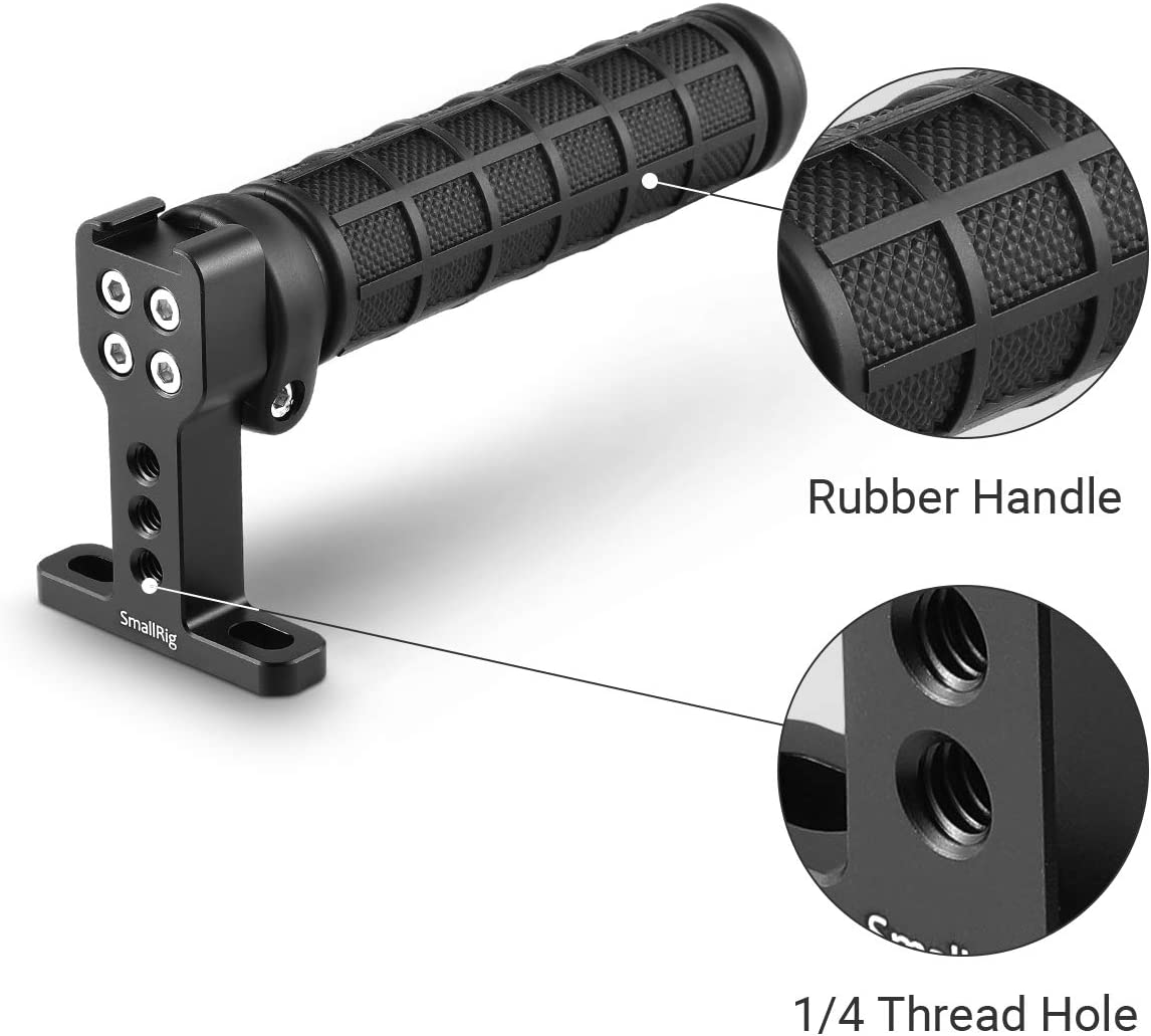 Rubber SMALLRIG Camera Top Handle Grip with Top Cold Shoe Base for DSLR Camera Cage Video Camcorder Rig 1446