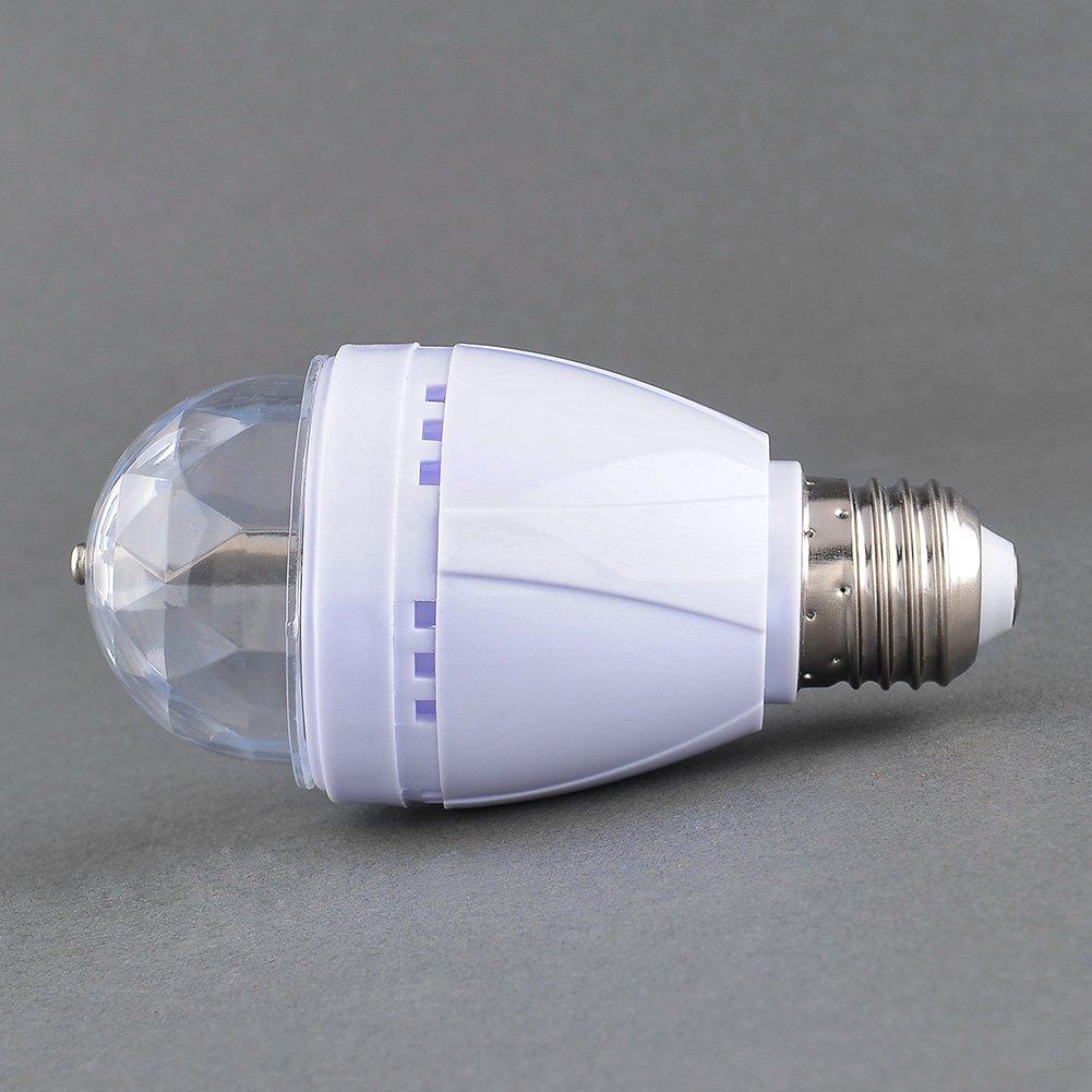 dbe0533966b amzdeal® 2X E27 3W LED RGB Bombillas led giratoria