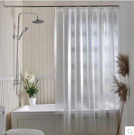 Translucent Shower Curtain Thick Waterproof Mildew Water Proof Bathroom