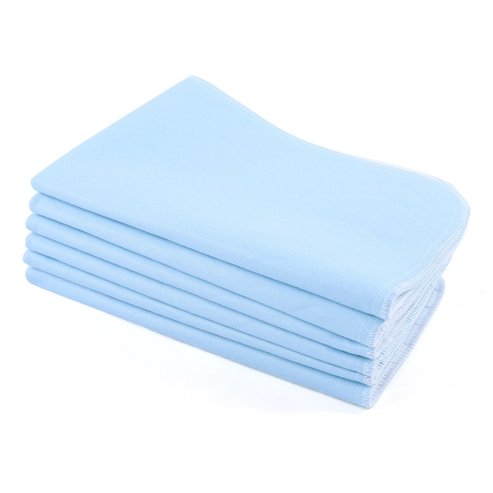 Incontinence Bed Pad, Adults Reusable Washable Bed Pad an Absorbent Pad Quilted Waterproof Incontinence Pad Blue & White for Seniors,Baby,Kids,Pets,Medical(45 x 60cm) (2 Set) Estink