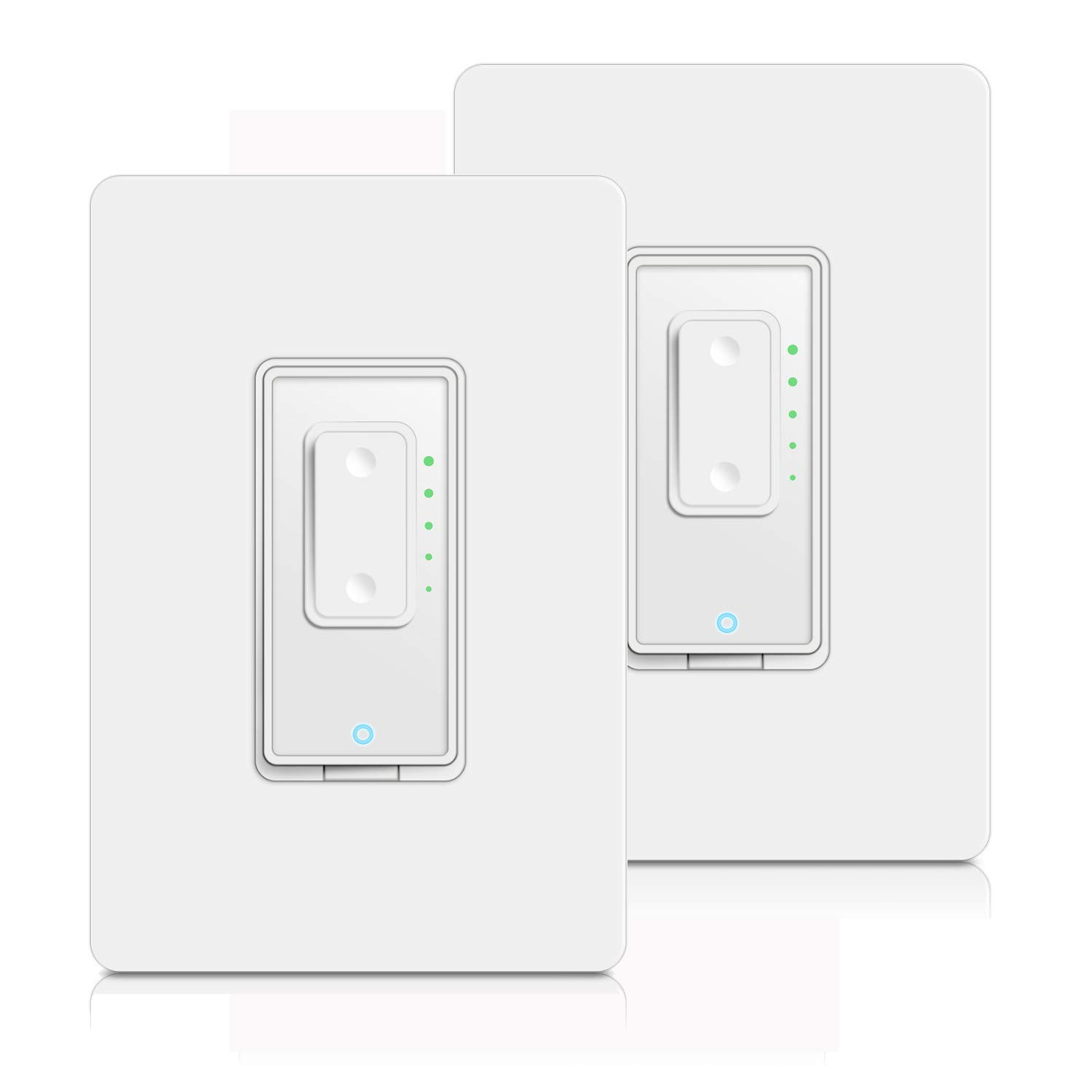 Smart Dimmer Switch by Martin Jerry | SmartLife App, Mains Dimming ONLY, Compatible with Alexa as WiFi Light Switch Dimmer, Single Pole, Works with Google Assistant [2Pack]