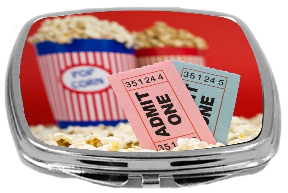 Rikki Knight Compact Mirror, Movie Stubs and Popcorn