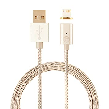Imaxs MGBL-Gold - Cargador magnético con Cable USB de Nailon para ...