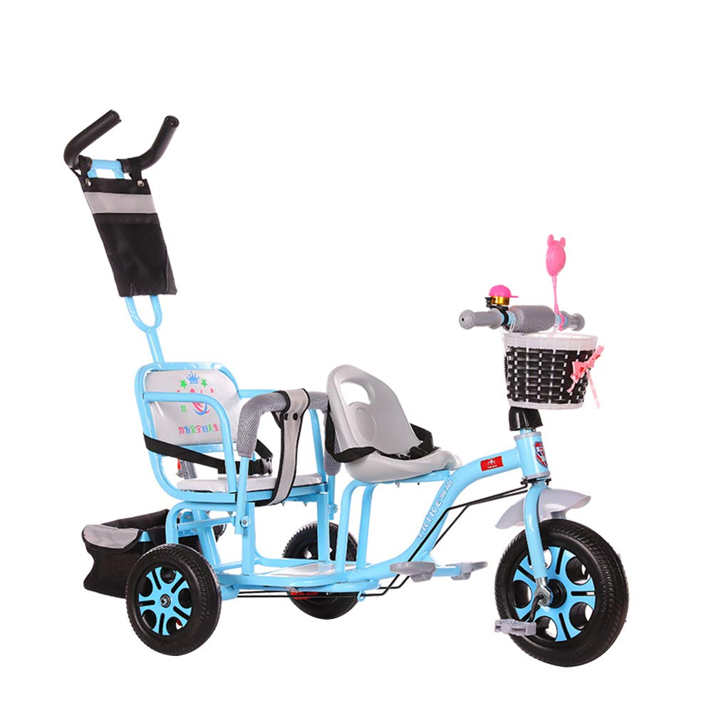 Baby Stroller - 103cm 100cm 60cm, Children's Tricycle Double Baby Bicycle Twin Stroller