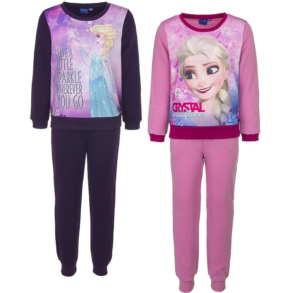 Jogginganzug Hausanzug 98, lila Disney Frozen Die Eisk/öniging Anna ELSA pink lila 2tlg
