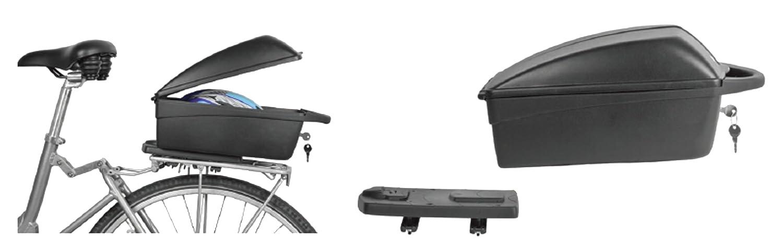 12 L Gris Polisport S101291 Boitier pour v/élo Mixte Adulte