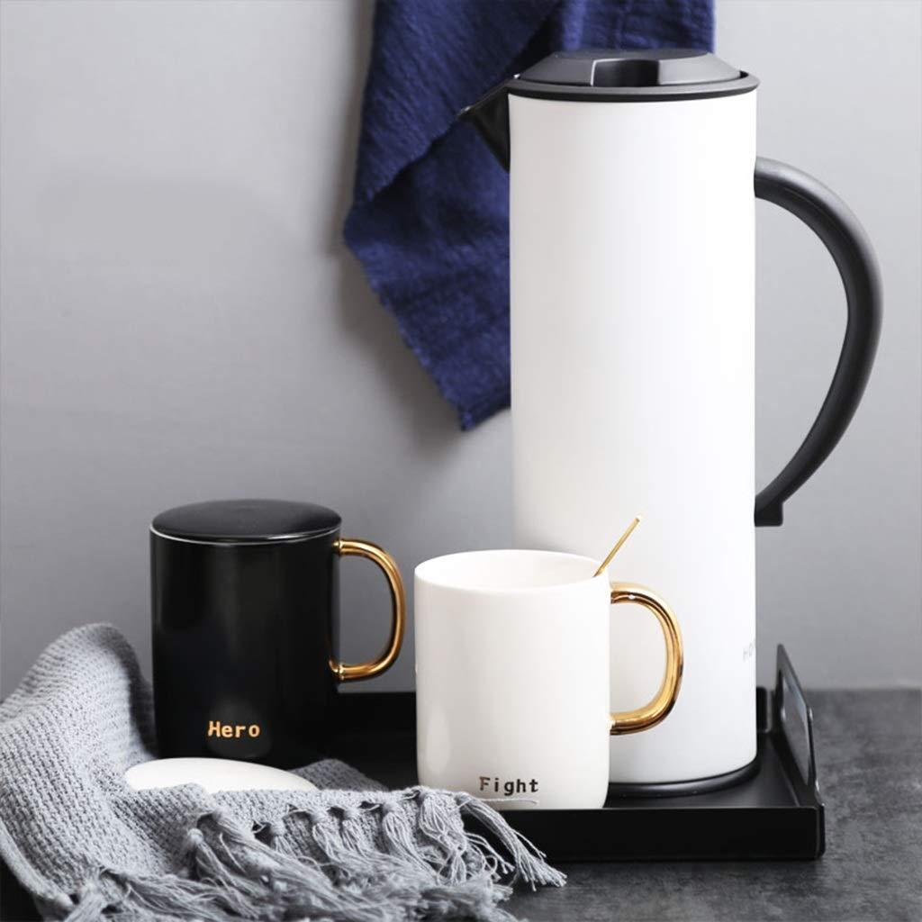 CSQ Coffee Cup Four Sets of Tea Sets, Simple Teapot Mug Ceramics Hospitality Tea Set Tea Set Capacity: 1000ml Afternoon Tea (Color : #4) by Tea set-CSQ (Image #3)
