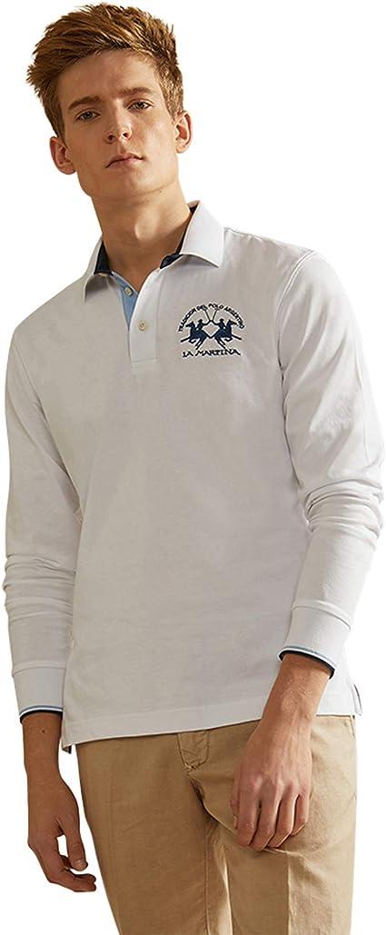 La Martina Man Polo L/S Cotton Jersey Hombre: Amazon.es: Ropa y ...