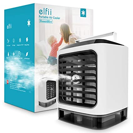 Amazon.com: Elfii Portable Air Conditioner | Personal Space Cooler ...