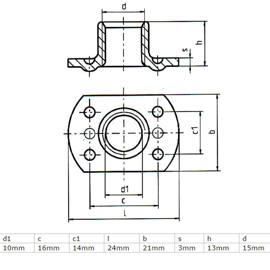 eDealMax a16041100ux1654 tuercas de soldadura 7/16 '' - 24 en Forma de T de Acero al carbono 4 DE proyección tuercas de soldadura 25Pcs