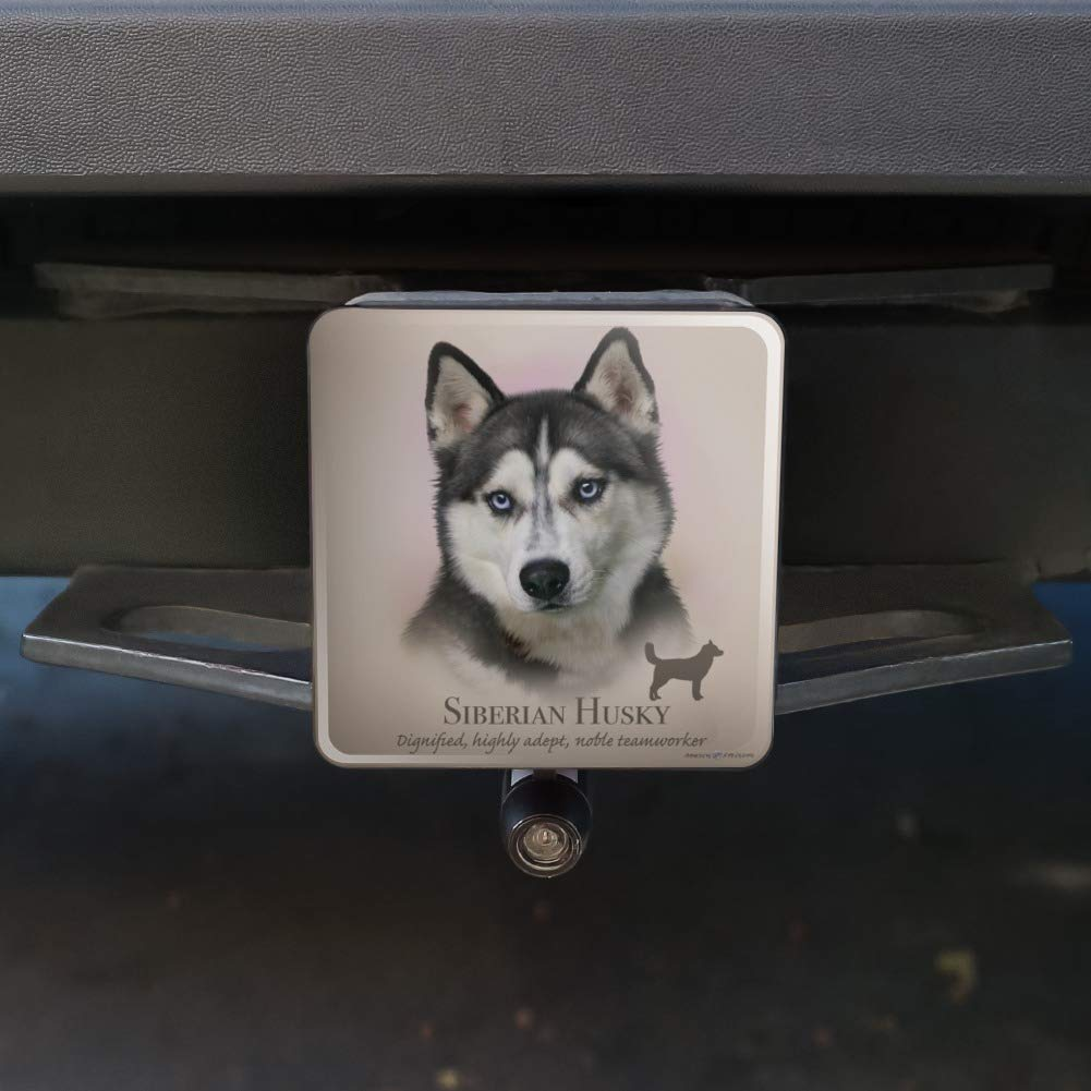 Graphics and More Siberian Husky Dog Breed Oval Tow Hitch Cover Trailer Plug Insert 2