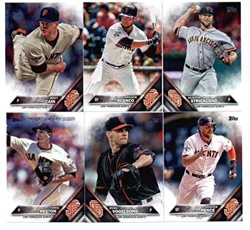 (2016 Topps Baseball San Francisco Giants Master Team Set of 30 Cards (Series 1, Series 2, and Update Series)- Includes Bumgarner, Pence, Crawford, Posey, Cueto, Tomlinson plus more! in a 4-Pocket Display Album)