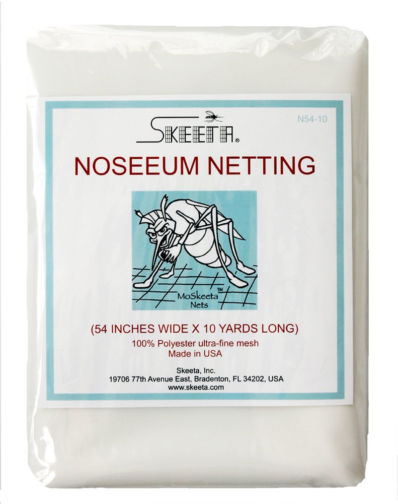 Skeeta Mosquito No-See-um Netting Fabric 54 Wide X 10 Yards – White