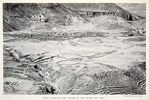 1934 Print Lari Peru Landscape Cityscape Church Historical Image Town City NGMA3 - Original Halftone Print from PeriodPaper LLC-Collectible Original Print Archive