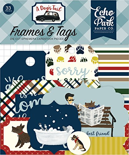 Tags Park (Echo Park Paper Company ADT155025 a Dog'S Tail Frames & Tags Paper Die Cut, Multicolor)
