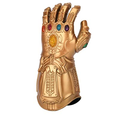 Kids Infinity Gauntlet Cosplay Thanos Arm LED Lights Up Gloves Toys Gift: Clothing