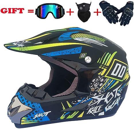 caschi da citt/à bambini cross ideale come regalo di compleanno NJYBF per mountain bike adulti Casco da motocross//motocross