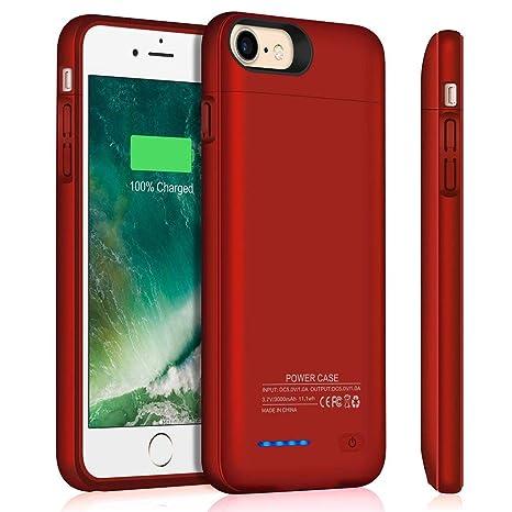 Amazon.com: Lvozize - Funda de batería para iPhone 6/6S 7 8 ...