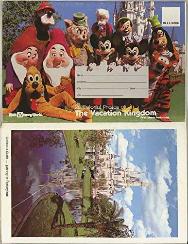 Walt Disney World - Colorful Photos of The Vacation Kingdom - Lake Buena Vista Florida - 1980 Souvenir Postcard - Buena Florida Lake Disney World Vista