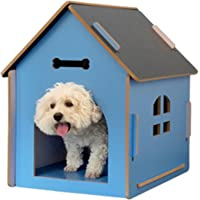 N\C Avtagbart katthus i trä hundhus husdjur koppel fönster hund kennel utomhusstuga inomhus utomhus villa