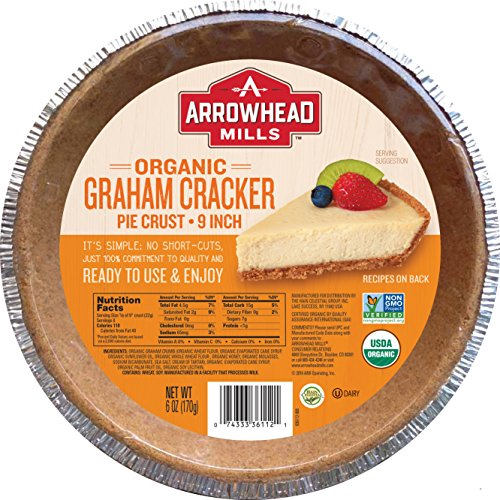 Arrowhead Mills Organic Graham Cracker Pie Crust, 9 Inch, 6 oz. (Pack of 12) by Arrowhead Mills