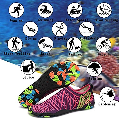 Beach for Water THEONES Water Surf Aqua Breathable Diving Aqua Dry Shoe Men Shoes Socks Socks Women Men Quick Rose Shoes Water Pool aqwHUf7a
