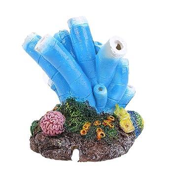 Yililay Acuario de la Burbuja de Aire de Piedra de joyería Coral ...