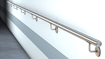 Edelstahl Handlauf V2a Fertighandlauf Gelander Treppe Griff O42 4x2