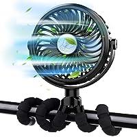FITA bureauventilator USB draagbaar, 3 snelheden Luchtstroom Handheld Fan met Flexibele Statief, 360 ° draaiende…