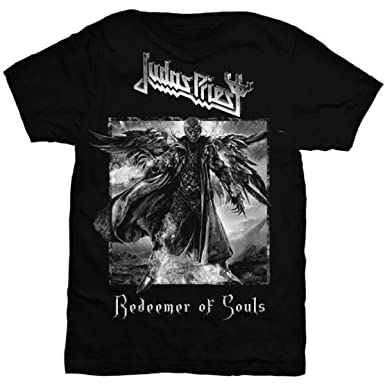Amazon.com  Judas Priest Men s Redeemer of Souls T-Shirt Black  Clothing 0506b74ba