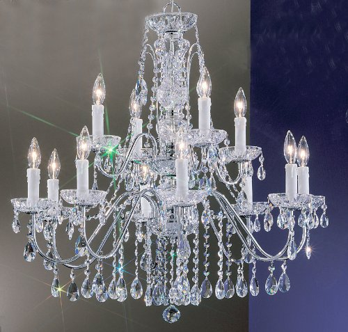 Classic Lighting 8389 CH S Daniele, Crystal, Chandelier, Chrome ()