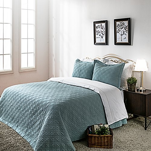 oft Solid King Quilt, Minimal Linen &Cotton Bed Quilt for All-season (108