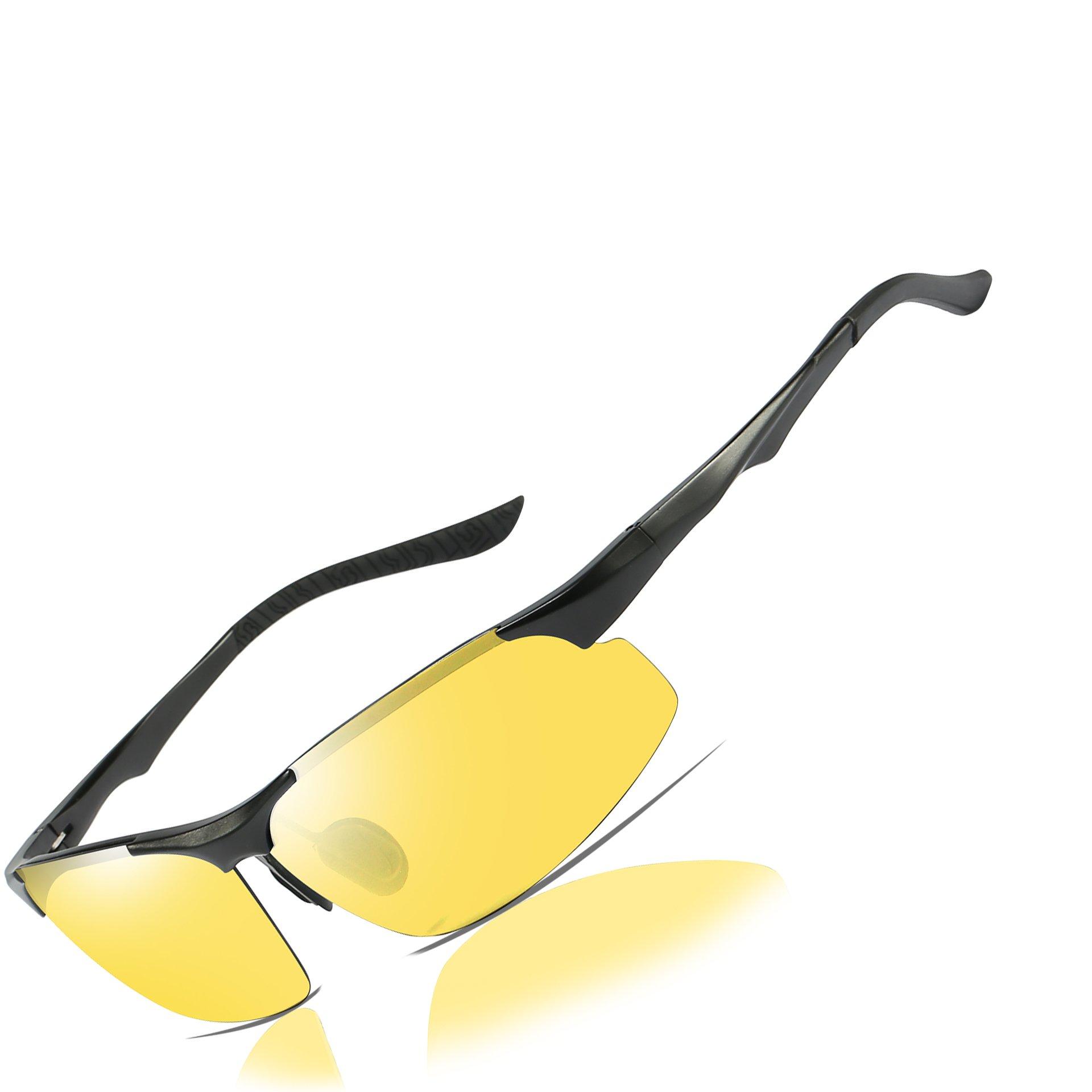 HD Night Vision Driving Polarized Glasses Anti-Glare Yellow Lens Mens forOutdoor