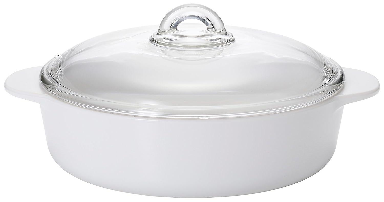 アデリア 耐熱ガラス こびりつかない 直火対応 ココット鍋 セラベイクファイア 白 2.3リットル K-9463 B00XIWNHOS  白 2.3L