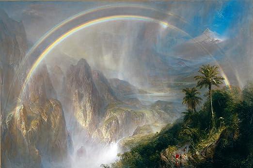 Frederic Edwin Church Rainy Season in the Tropics Giclee Canvas Print  Poster