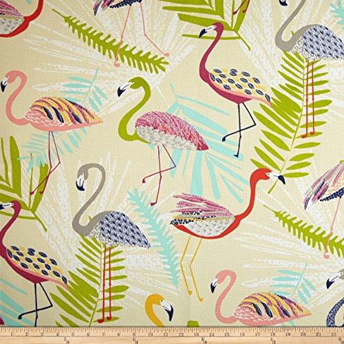 Richloom Indoor/Outdoor Flamingo Spring Fabric By The Yard (Flamingo Outdoor Fabric)