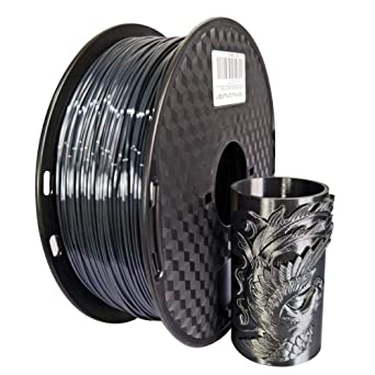 Amazon.com: Filamento PLA negro de seda para impresora 3D ...