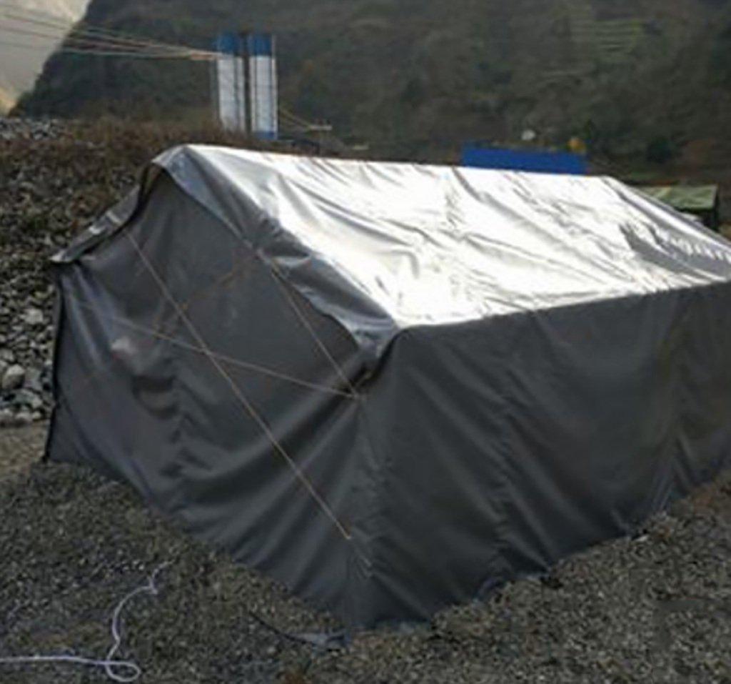 AJZGF Im Freien Imprägniern Sie PVC-regenfesten Sonnenschutz LKW-Plane imprägniern des Zeltzeltstoff des imprägniern Schuppenstoffes im Freien, dunkelgrau (größe : 4.5  4m) 1c99c4