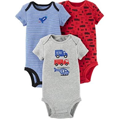 501036447 Amazon.com  Carter s (Child of Mine) Baby Boys 3 Pack Bodysuit Set ...