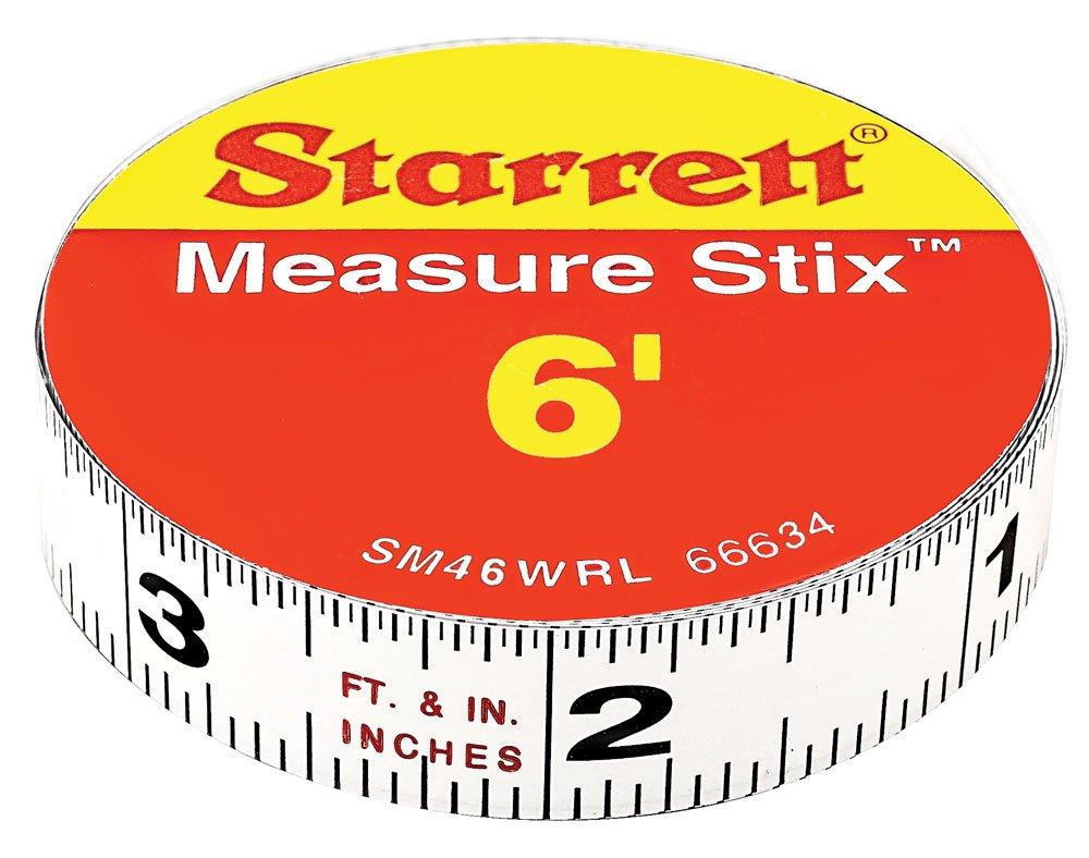 Starrett SM46WRL Measure Stix Permanent adhesive back Tape, 1/2'' x 6'
